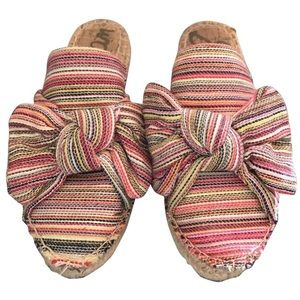 Sam Edelman multi striped espadrille mules